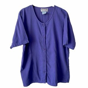 Vintage Northern Reflections Purple Button Down